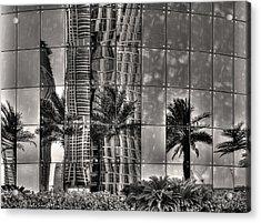 Dubai Street Reflections Acrylic Print