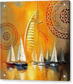 Dubai Symbolism Acrylic Print by Corporate Art Task Force