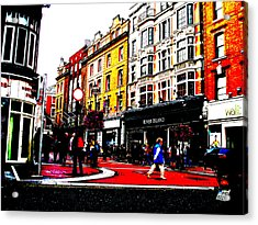 Dublin City Vibe Acrylic Print by Charlie and Norma Brock