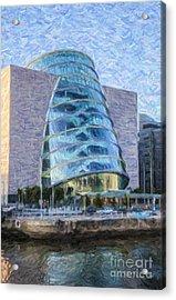 Dublin Convention Centre Republic Of Ireland Acrylic Print by Liz Leyden