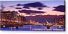 Acrylic Print featuring the photograph Dublin Docklands At Dawn / Dublin by Barry O Carroll