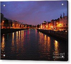 Dublin Nights Acrylic Print by Mary Carol Story