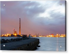 Dublin Port At Night Acrylic Print by Semmick Photo