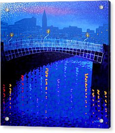 Dublin Starry Nights Acrylic Print by John  Nolan