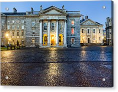 Dublin Trinity College Chapel At Night Acrylic Print by Mark E Tisdale