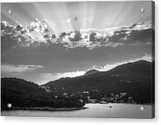 Dubrovnik Beams Bw II Acrylic Print by Matti Ollikainen