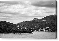 Dubrovnik Landscape Bw Acrylic Print by Matti Ollikainen