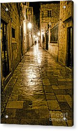Dubrovnik Streets At Night Acrylic Print