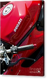 Ducati Red Acrylic Print by Tim Gainey