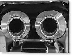 Ducati Twin Exhaust Acrylic Print by Brian Roscorla