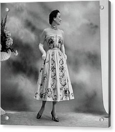 Duchess Of Windsor In A Dior Ball Gown Acrylic Print by Cecil Beaton