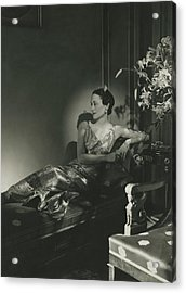 Duchess Of Windsor Reclining Acrylic Print by Horst P. Horst