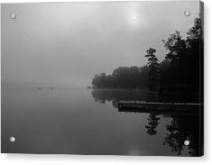 Duck Harbor Early Morning Fog Acrylic Print by Patsy Zedar
