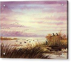 Duck Hunting Companions Acrylic Print