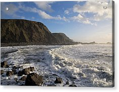 Duck Pool In North Cornwall Acrylic Print by Pete Hemington