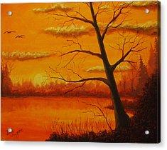 Duck Sunset Acrylic Print