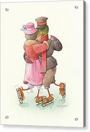 Ducks On Skates 09 Acrylic Print by Kestutis Kasparavicius
