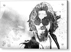 Dude B W Acrylic Print by Daniel Hagerman