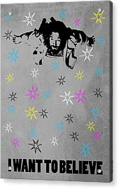 Dude I Want To Believe 3 Acrylic Print by Filippo B