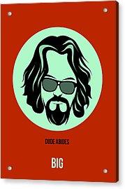 Dude Poster 2 Acrylic Print by Naxart Studio
