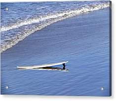 Acrylic Print featuring the photograph Dude Where Is My Surfer by Kathy Churchman