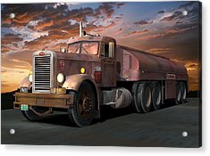 Duel Truck With Trailer Acrylic Print