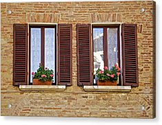 Dueling Windows Of Tuscany Acrylic Print