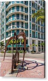 Duenos Do Las Estrellas Sculpture - Downtown - Miami Acrylic Print