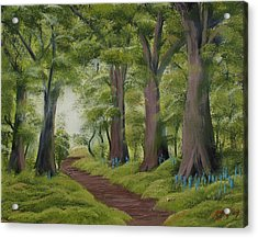 Acrylic Print featuring the painting Duff House Walk by Charles and Melisa Morrison