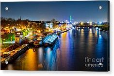 Duisburg Rhine East Bank Dammst Acrylic Print