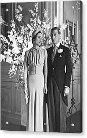 Duke And Duchess Of Windsor Acrylic Print by Underwood Archives