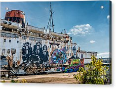 Duke Graffiti  Acrylic Print by Adrian Evans