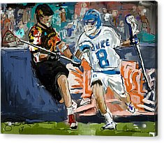 College Lacrosse 2 Acrylic Print by Scott Melby