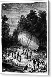 Duke Of Chartres Balloon Flight Acrylic Print by Science Photo Library