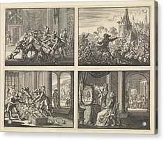 Duke Of Guise Murdered In The Castle At Blois, 1588 Acrylic Print by Quint Lox
