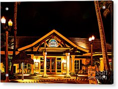Acrylic Print featuring the photograph Duke's Restaurant Front - Huntington Beach by Jim Carrell