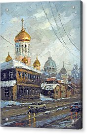 Acrylic Print featuring the painting Dull Landscape by Dmitry Spiros