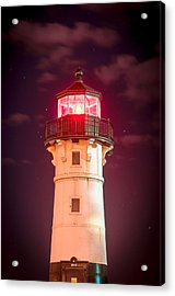 Duluth North Breakwater Lighthouse Acrylic Print by Mark David Zahn