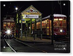 Dumaine St. Trolly In New Orleans Acrylic Print by Kent Taylor