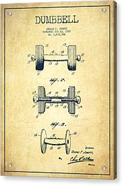 Dumbbell Patent Drawing From 1927 - Vintage Acrylic Print