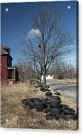 Dumped Vehicle Tyres Acrylic Print