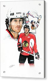 Duncan Keith Acrylic Print by Jerry Tibstra