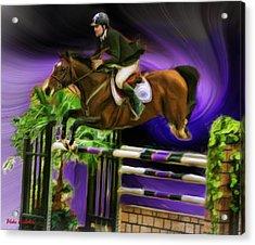 Duncan Mcfarlane On Horse Mr Whoopy Acrylic Print