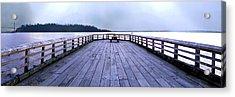 Dundarave Bridge Panorama Acrylic Print by Patricia Keith
