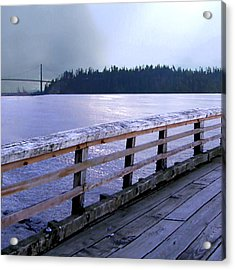 West Vancouver Dundarave Triptych Left Panel Acrylic Print by Patricia Keith