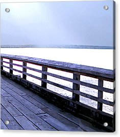 West Vancouver Dundarave Triptych Right Panel Acrylic Print by Patricia Keith