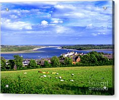 Acrylic Print featuring the photograph Dundrum Bay Irish Coastal Scene by Nina Ficur Feenan