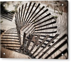 Storm Fence Series 1 Acrylic Print by John Pagliuca