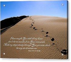 Dune Walk W/scripture 2 Acrylic Print