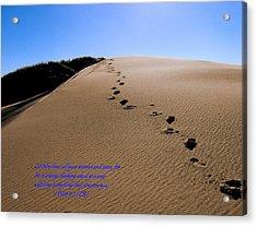 Dune Walk W/scripture Acrylic Print